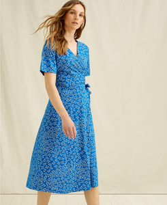 Midi Kleid - Ria Butterfly Wrap Dress - People Tree