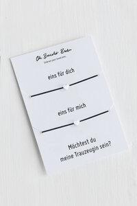 """2er-Set Armband »Trauzeugin« an Karte """"Möchtest du meine Trauzeugin sein?""""   optional mit Gravur - Oh Bracelet Berlin"""