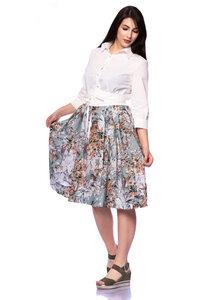 LUZIA Festliches Hemdblusenkleid individuells Farb-Design von Spoonflower - Ingoria