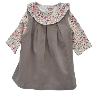 Kleid mit Bluse Baby Kinder Selana of Switzerland aus 100% Baumwolle( kbA) 2 Teile  - Selana of Switzerland