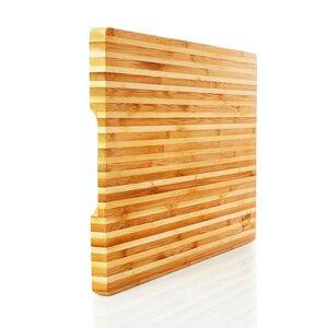 Brotschneidebrett aus 100% Bambus - Schneidebrett Brotbrett Schneideunterlage - Bambuswald
