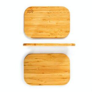 3er Set Frühstücksbrettchen/Frühstücksbretter | 100% nachhaltiger Bambus - Schneidebrett-Set Brettchen Holzbrett - Bambuswald