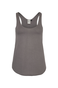 Fair gehandeltes Basic Women Tank Top aus Biobaumwolle _ graphit / ILK03 MADE IN KENIA - ilovemixtapes