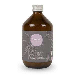 Body Lotion | Bio-Aloe Vera 500ml in Glas-Mehrwegflasche - Takuna Naturkosmetik
