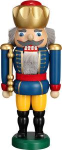 Nussknacker 25 cm König aus dem Erzgebirge 3 Farben wählbar - Seiffener Volkskunst