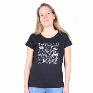"Damen T-Shirt aus Bio-Baumwolle ""Serengeti""  - Kipepeo-Clothing"