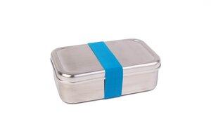 Edelstahl Lunchbox, rostfrei, mit farbigem Band - tindobo