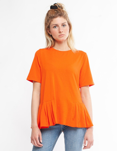 """Damen T-Shirt aus Eukalyptus Faser """"Flora"""" mit Plissè - CORA happywear"""