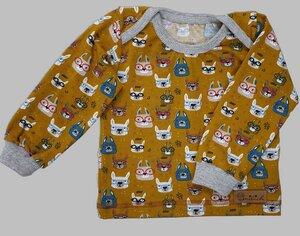 Babyshirt aus Biojersey Brillentiere - Omilich