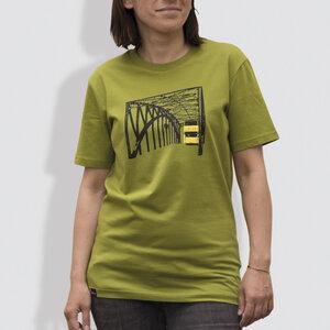 """Frauen T-Shirt, """"Stadtrundfahrt"""", Moss Green - little kiwi"""