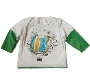 Baby Langarmshirt mit bunten Heizballonmotiv  - Itsus Eco