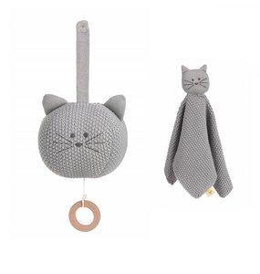 Geschenk Set zur Geburt: Lässig Spieluhr und Schmusetuch Little Chums Hund, Kaze oder Maus - Lässig