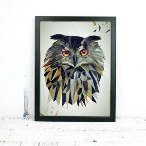 Eule, Fine Art Print - Printe
