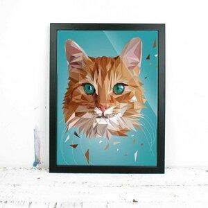 Katze rot, Fine Art Print - Printe