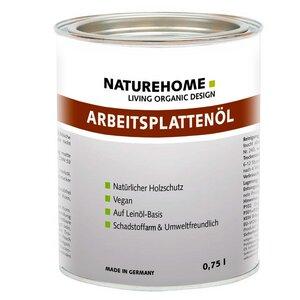 Bio Arbeitsplatten-Öl Vegan Farblos 250 / 750 ml - NATUREHOME