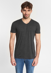 "Herren T-shirt aus Merino-Wolle ""Merlin Merino"" anthrazit - SHIRTS FOR LIFE"