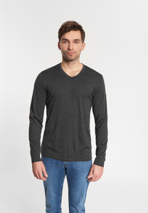 "Longsleeve aus Merinowolle ""Marvin Merino"" anthrazit - SHIRTS FOR LIFE"