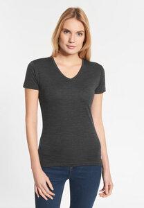 """Damen T-shirt aus Merinowolle """"Mary Merino"""" anthrazit - SHIRTS FOR LIFE"""