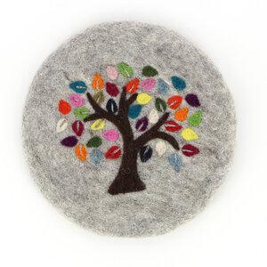 Topfuntersetzer TREE OF LIFE aus Wollfilz - GLOBO