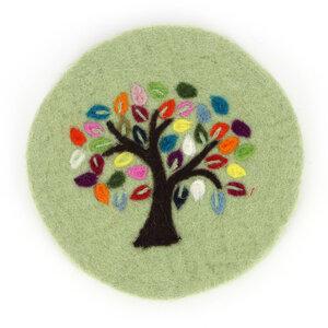 Untersetzer TREE OF LIFE aus Wollfilz - GLOBO