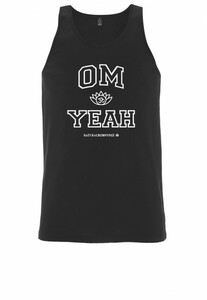 Herren Yoga Tank Shirt Om Yeah - Natural Born Yogi