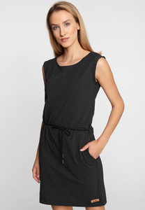 "Damen Jerseykleid aus Bio Baumwolle ""Petite Dots DRESS"" black - derbe"