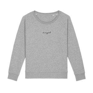 Damen Rundhals Pullover/Sweater aus Bio-Baumwolle DRESSGOAT - hellgrau meliert - dressgoat