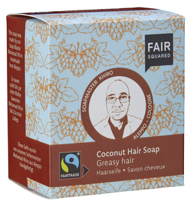 FAIR SQUARED Coconut Hair Soap Greasy  -  2x80gr. - Fair Squared