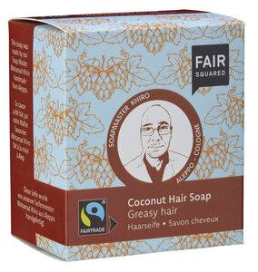 FAIR SQUARED Coconut Hair Soap Greasy  -  2x80gr. - Fair Squared