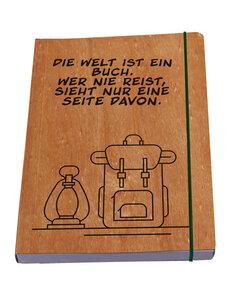 Notizbuch Reisen in Nussbaum oder Kirsche - Waldkind