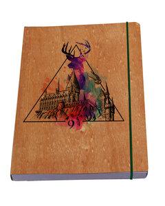 Zauberwelt Notizbuch in Nussbaum oder Kirsche - Waldkind
