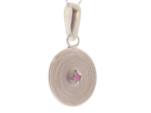 Anhänger kleine Spirale rosa Silber - Filigrana Schmuck