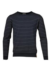 Fine Striped Knit Total Eclipse - KnowledgeCotton Apparel