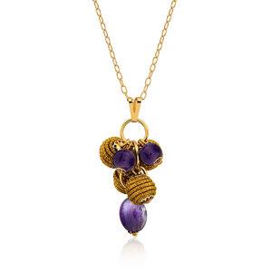 Halskette Mia Bio aus Golden Grass - Aline Celi