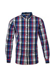 Checked Poplin Shirt Anemone - KnowledgeCotton Apparel