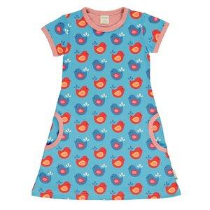 Maxomorra T-Shirt Kleid bright birds - maxomorra