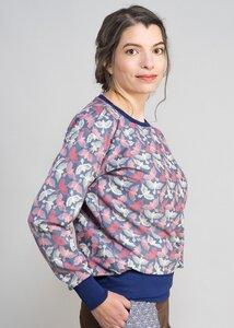 Oversize Pullover mit breitem Bündchen - Green Size
