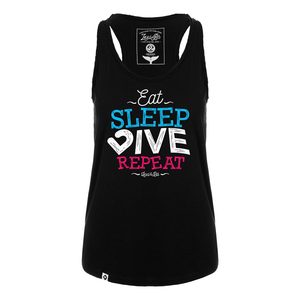 Eat. Sleep. Dive. Repeat. Damen Tank Top long cut - Lexi&Bö
