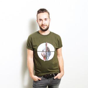 Chicken Crosslines - Bioshirt Männer mit Print - Coromandel