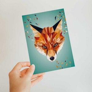 Fuchs, Postkarte DIN A6 - Printe