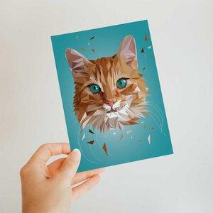 Katze, Postkarte DIN A6 - Printe