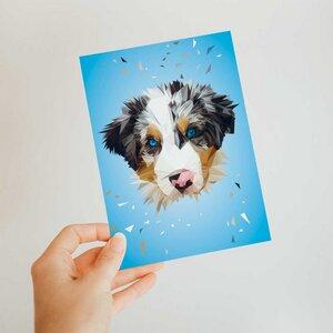 Hund, Postkarte DIN A6 - Printe