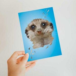 Erdmännchen, Postkarte DIN A6 - Printe