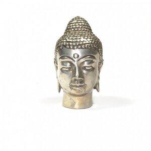 Buddhakopf versilbert - Just Be
