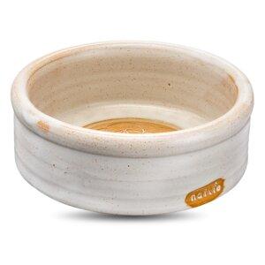 Keramiknapf Mandala sand weiß für Hunde & Katzen  - naftie