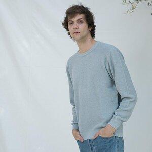 Recycelter Pullover aus Denim-Baumwolle Gino - Rifò - Circular Fashion