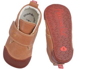 Krabbelschuhe, Barfußschuhe mit Gummisohle aus nachhaltigem Leder Modell Charlie mit Klettband  in verschiedene Farben erhältlich - Anna und Paul