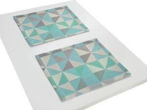 Tischsets Bio Bel  2 Stück tolles Design 100 % Bio Baumwolle - Adam -Natürlich Wohnen