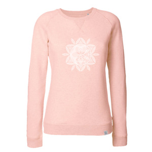 Siebdruck Sweatshirt - cream heather pink - Sacred Designs