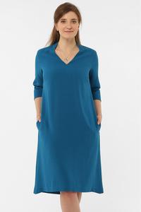 Kleid mit Kragen und V-Ausschnitt - AYANI
